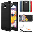 For OnePlus 3 / 3T Thin Shockproof Soft Rubber Brushed Silicone Back Case Cover