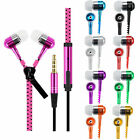 ZIPPER In Ear ZIP Earphones Headphones 3.5mm with MIC for SmartPhones iphone s7