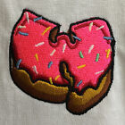 Wu Pink Donut Embroidered Hip Hop Wu Tang Clan Tee T-shirt by Actual Fact