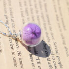 Real Hydrangea Handmade Glass Orb Necklaces Pendants Natural Fresh Flower