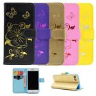 Gold Blocking PU Leather Flip Wallet Case Card Slots for iPhone 6s 7 plus