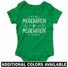 Moderation in Moderation One Piece - Baby Infant Creeper Romper NB-24M - Gift