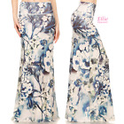 Floral Elegant Sublimation high waist fold over maxi long skirt (S/M/L/XL)