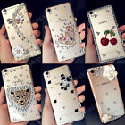 Handmade Fashion Luxury Bling Diamond Crystal Clear Case Cover for Cell Phones