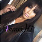 "12""-22"" full/front lace wig silky straight with bang 100% indian remy human hair"