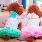 Lace Tutu Dress for Pets Bow Dog Clothes 2 Color Pet Clothes  XXS XS S M L