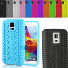 Tyre Thread Soft Silicon Gel Rubber Back Skin Case Cover for Samsung & Apple