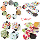 Women Cotton Menstrual Period Pads Sanitary Panty Liner Reusable Washable Flower