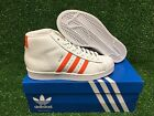 NEW ADIDAS ORIGINALS PRO MODEL J GS GRADE SCHOOL YOUTH SHOES WHT/ORG/GOLD BY3733