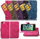 New Card Slot Flip Nubuck  Rotatable Genuine Leather Case Cover Skin For iPhone
