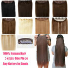 Full Head One Piece Clip In Remy Human Hair Extensions Hair Pieces Highlight