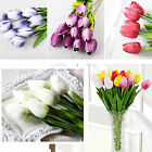 1/10x Artificial Fake Tulip Flowers Bridal Wedding Real Touch Bouquet Home Decor