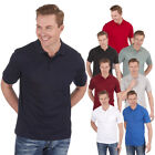 Men's Casual Plain Polo Shirt Cotton Jersey Top With Pocket Summer Sports Golf
