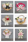 SEW ON RAG DOLL EMBELLISHMENTS- 6 STYLES TO CHOOSE FROM UK SELLER