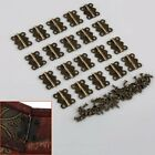 20pcs Decorative Vintage Butterfly Hinges Size S M L For Cabinet Jewelry Box