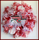 Cincinnati Reds Baseball Ruffle Mesh Wreath, License Plate Choice, Big Red