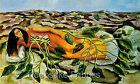 Frida Kahlo Roots Reproduction Fabric Quilt Block Free Shipping World Wide