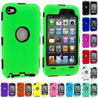 Hybrid Defender Impact Slim Armor Hard Case Cover For Apple Ipod Touch 4 4th Gen