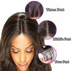 Brazilian Virgin Remy Straight Human Hair Lace Top Closure 4x4'' mid part Women