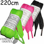 SHOESTRING Laces 220cm Wide Roller Derby Pink Black Rollerskate Boot Skates Wide