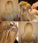 100S Easy Micro Loop Ring Beads Tipped Straight 100% Remy Human Hair Extensions