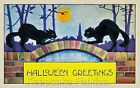 Black Cats Halloween Greetings Quilt Block Multi Sizes FrEE ShiPPinG WoRld WiDE