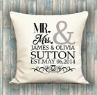 Personalised Anniversary Cushion Cover Custom Printed Anniversary Wedding Gift