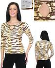Hadi Collection Animal Print Beaded Sweater