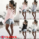 UK Fashion Womens Long Sleeve Sweatshirt Pullover Casual Tops T-Shirt Blouse