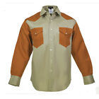 Flame Resistant Work Shirt FRC - 88/12 Cotton blend, 7 oz, Western Style 2-tone