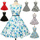 Women Housewife 50s Vintage Formal Swing Pinup Cocktail Skater Dress Size. XS-XL