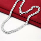 5 Style Simple Jewelry Women Men Punk Cool Silver Plated Link Chain Bib Necklac