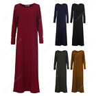 Womens Ladies Long Millitary Style Full  Abaya Shirt Dress Maxi Kaftan Casual We