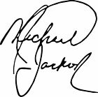 Michael Jackson Autograph Design Decal / Sticker for car, wall or flat surface