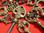 15 French ornate Antique Keys ,Collectibles,cabinet ,furniture 18-19 th century