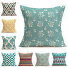 1pc Retro Geometric Home Decor Cushion Cotton Linen Throw Pillow Sofa Cover Case