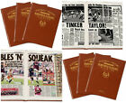 PERSONALISED English FOOTBALL TEAM Club History NEWSPAPER Book Gift Ideas FC Him