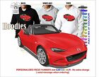 2015-16 MAZDA MX5 HOODIE ILLUSTRATED CLASSIC RETRO MUSCLE SPORTS CAR
