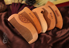 Natural Green Sandalwood Retro carved flower  peach wood Fragrant Comb Craf