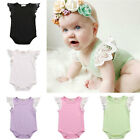 Newborn Toddler Baby Girl Kids Romper Laces Bodysuit Infant Clothes Outfit 0-2T