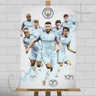 Manchester City FC Man City Football Club Team Players Canvas Print Poster A1 A2