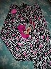 Soft Zebra Fleece Pajama Lounge Pants & Betty Boop Socks Size M L XL & 1X $17.5 USD