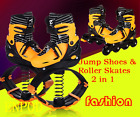 2 in 1 Fitness Jump Shoes & Roller Skates Bounce Shoes Jumping Shoes FASHION