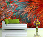 Hues Red Feather Texture Full Wall Mural Photo Wallpaper Print Kid Home 3D Decal