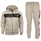 DLX MEN HOODED TRACKSUITE FLEECE FULL TOP BOTTOM GYM JOGGING WARM ACTIVE WEAR UK