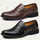 Mens leather Business Breathable Hollow Out Formal Casual Shoes Summer Dad hot
