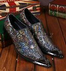Fashion Mens Multi Color Leather Pointed Toe British Formal Wedding Dress Shoes
