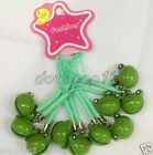 Lot Cartoon Frog Cell Phone Strap JINGLE BELLS Dangle Charms Party Gifts H18
