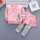 2PCS Toddler Kids Baby Girls Outfits Long Sleeve Tops+Pants Dress Clothes Sets