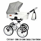 CLASSICO RETRO LEATHER 4in1 TRAVEL SYSTEM PRAM PUSHCHAIR CAR SEAT 3color chassic
